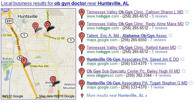 google place. local huntsville al business listing